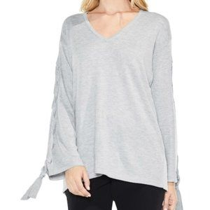 Vince Camuto Lace Up Bell Sleeve Sweater